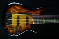 Ibanez SRAS7 Fretted/Fretless Hybrid Dragon Eye Burst