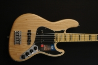 Fender American Elite Jazz Bass 5 string, Maple neck, Natural Finish